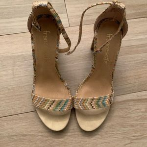 Francesca multi colored block heels